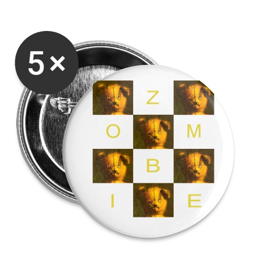 Zombie Teddy Bear Design - Buttons small 1''/25 mm (5-pack)