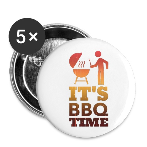 It's BBQ Time - Buttons klein 25 mm (5-pack)