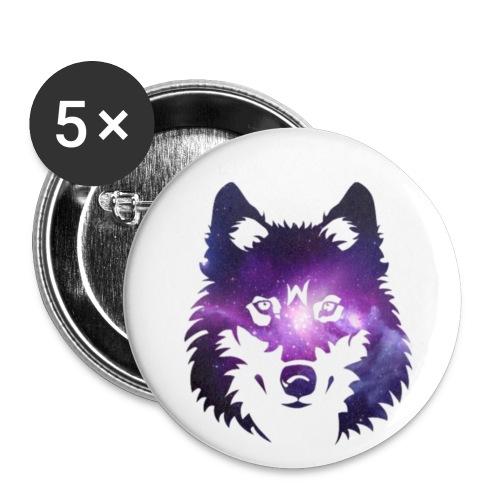 Galaxy wolf - Lot de 5 petits badges (25 mm)
