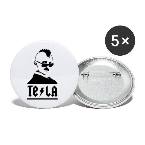 NIKOLA TESLA   PUNK VERSION - Confezione da 5 spille piccole (25 mm)