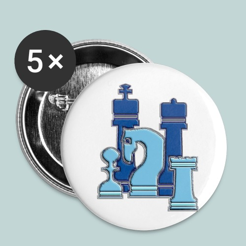 figurengruppeblau2kanten - Buttons klein 25 mm (5er Pack)