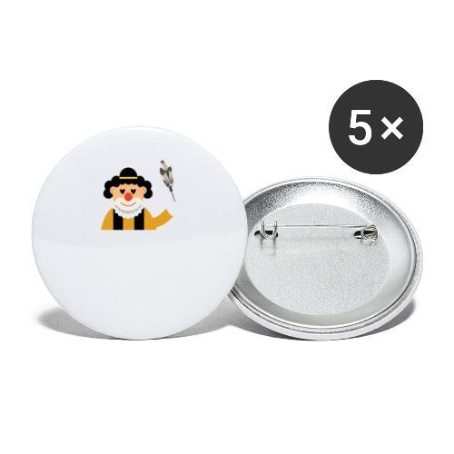 Clown - Buttons klein 25 mm (5er Pack)