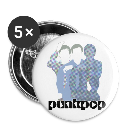 JD Post Punk PunkPop - Confezione da 5 spille piccole (25 mm)
