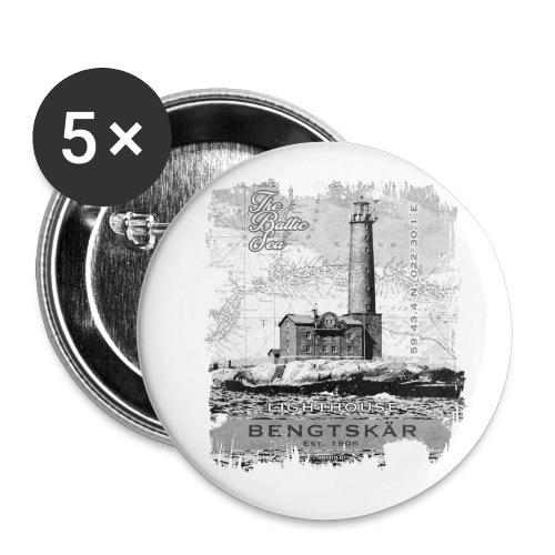 Bengtskär Majakka - Tekstiilit ja lahjatuotteet - Rintamerkit pienet 25 mm (5kpl pakkauksessa)