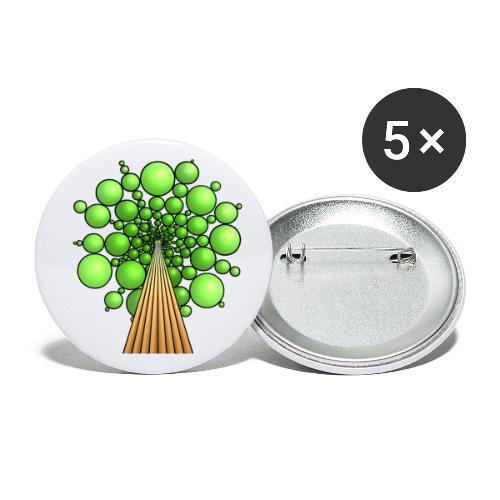 Kugel-Baum, 3d, hellgrün - Buttons klein 25 mm (5er Pack)