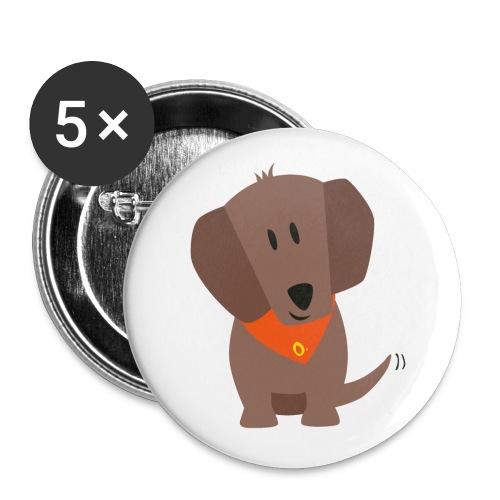Dackel Oskar - Buttons klein 25 mm (5er Pack)