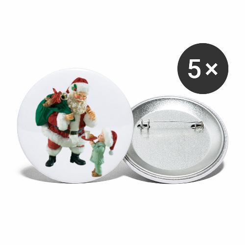 Christmas Night - Små knappar 25 mm (5-pack)
