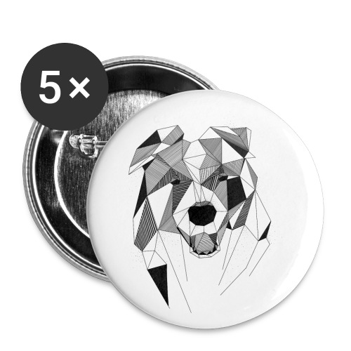 BorderCollie - Buttons klein 25 mm (5-pack)