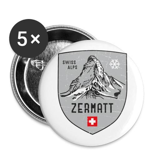 Zermatt Schweiz Wappen - Buttons small 1''/25 mm (5-pack)