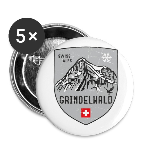 Grindelwald Switzerland coat of arms - Buttons small 1''/25 mm (5-pack)