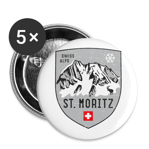 St. Moritz coat of arms - Buttons small 1''/25 mm (5-pack)
