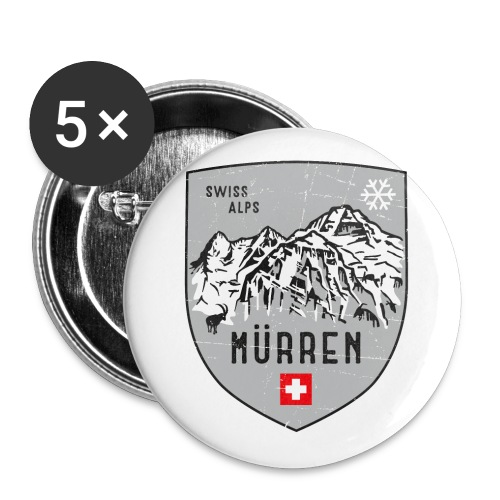 Murren Switzerland coat of arms - Buttons small 1''/25 mm (5-pack)