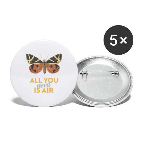 Schmetterling all you need is air - Buttons klein 25 mm (5er Pack)