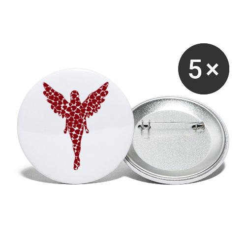 love angel - Buttons klein 25 mm (5er Pack)