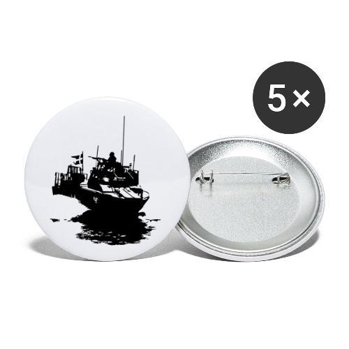 Combat Boat 90 - Stridsbåt 90 - Små knappar 25 mm (5-pack)