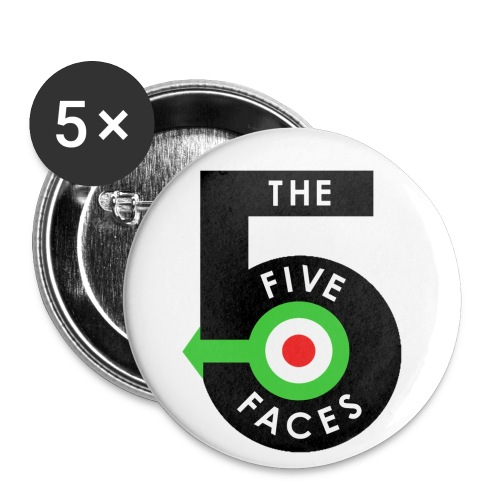 T5F OLD Logo Tshirt Transparent png - Buttons small 1''/25 mm (5-pack)