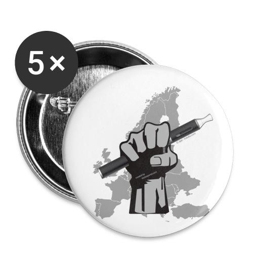 EVP Hand Europe - Buttons klein 25 mm (5er Pack)