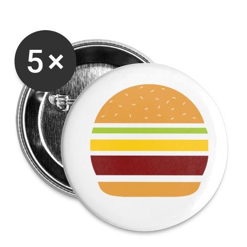 Logo Burger Panhamburger - Lot de 5 petits badges (25 mm)