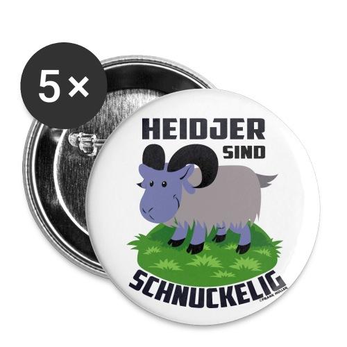 Heidschnucke Fiete - Buttons klein 25 mm (5er Pack)