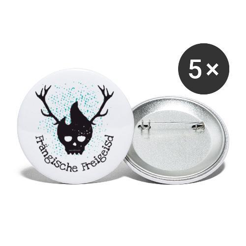 Frängische Freigeisd - Buttons klein 25 mm (5er Pack)