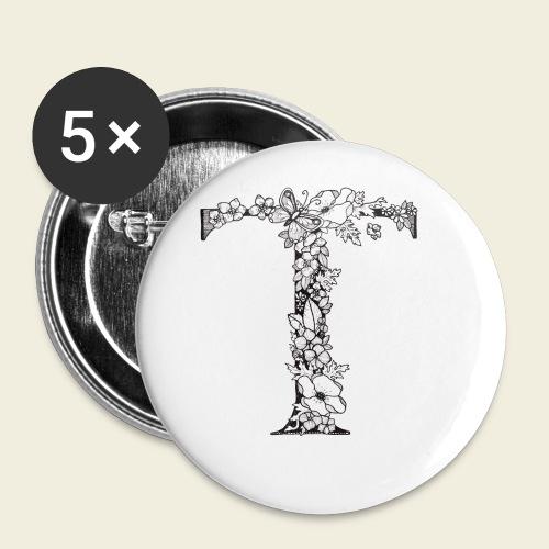 Buchstabe T - Buttons klein 25 mm