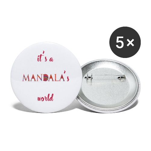 It's a mandala's world - Buttons small 1''/25 mm (5-pack)