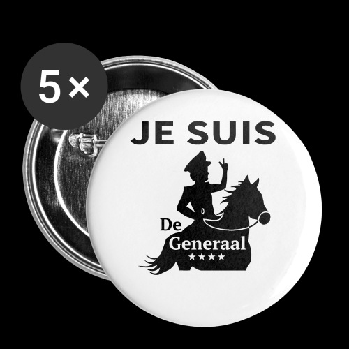 JE SUIS De Generaal (zwart op zit) - Buttons klein 25 mm (5-pack)