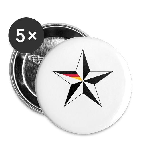 5ter Stern Fussball Fanshirt Weltmeisterschaft - Buttons klein 25 mm