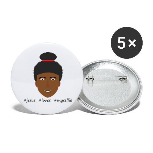 jesus loves myselfie - Buttons klein 25 mm (5er Pack)