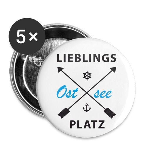 Lieblingsplatz Ostsee - Buttons klein 25 mm (5er Pack)