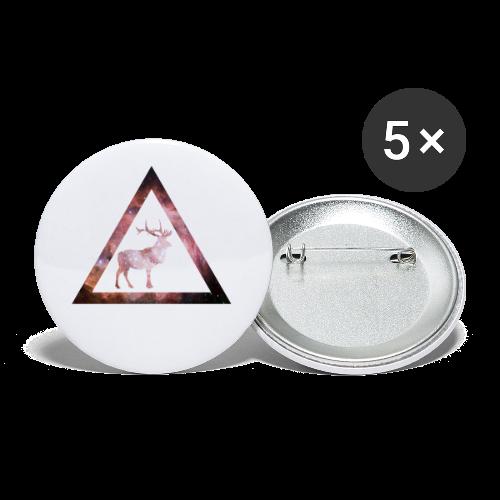 Galaxy Deer Geometry Triangle - Buttons klein 25 mm (5er Pack)