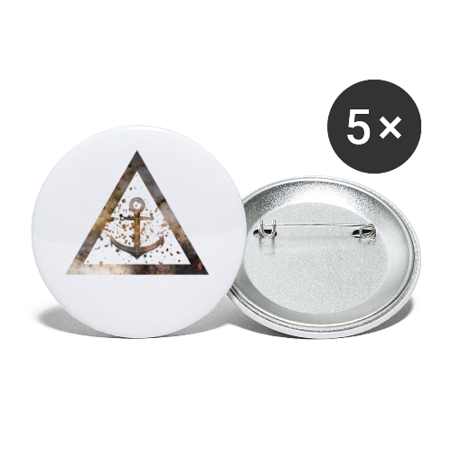 Galaxy Anchor Geometry Triangle - Buttons klein 25 mm (5er Pack)