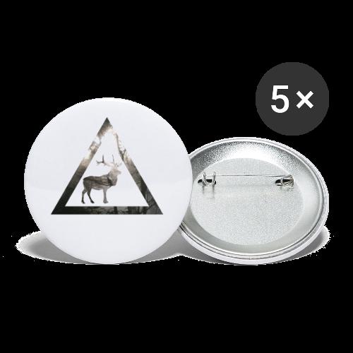Mystical Forest Deer Triangle - Buttons klein 25 mm (5er Pack)