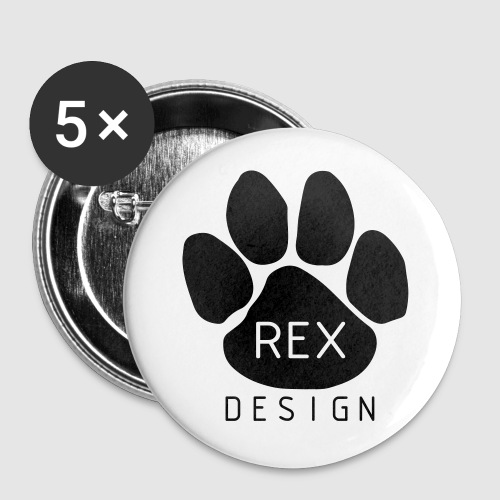 Rex Design - Buttons small 1''/25 mm (5-pack)