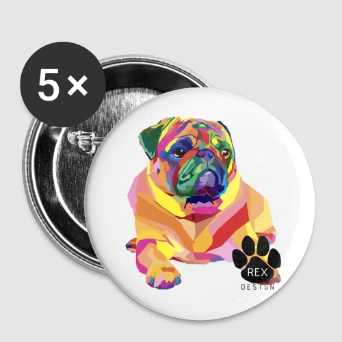 A Pug Life - Buttons small 1''/25 mm (5-pack)