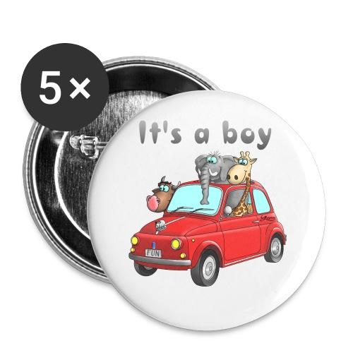 It's a boy - Baby - Cartoon - lustig - Buttons klein 25 mm (5er Pack)