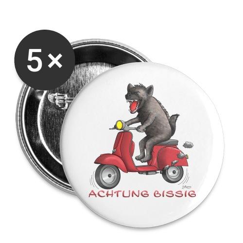 Hyäne - Achtung bissig - Buttons klein 25 mm (5er Pack)