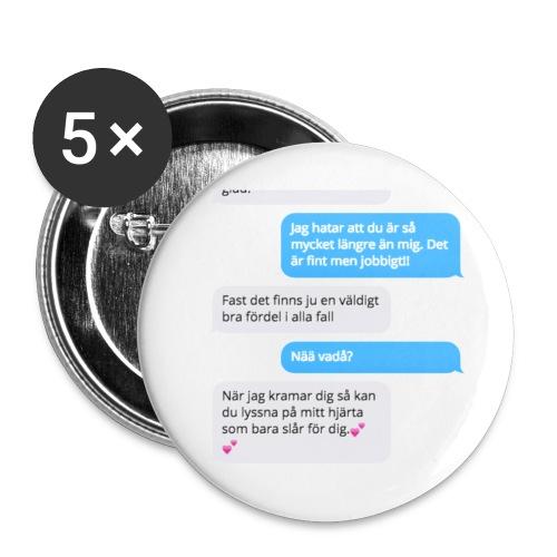Vackert sms motiv - Små knappar 25 mm (5-pack)