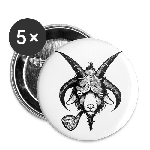 Frost Pipes Demon Goat Black - Buttons small 1''/25 mm (5-pack)