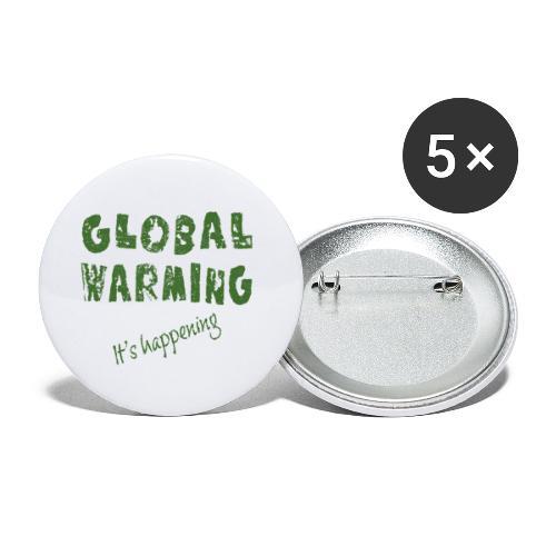 Opwarming van de aarde - global warming - Buttons klein 25 mm (5-pack)