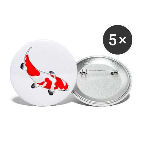 Koi - Buttons klein 25 mm (5er Pack)
