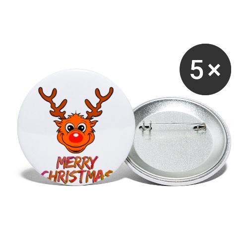 Rudolph - Buttons klein 25 mm (5er Pack)