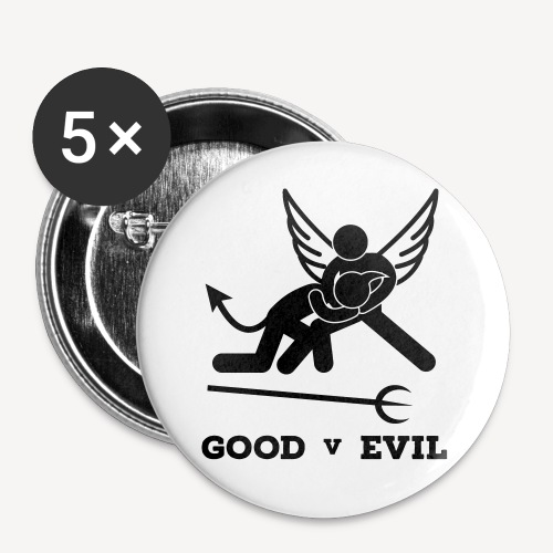 GOOD V EVIL - Buttons small 1''/25 mm (5-pack)