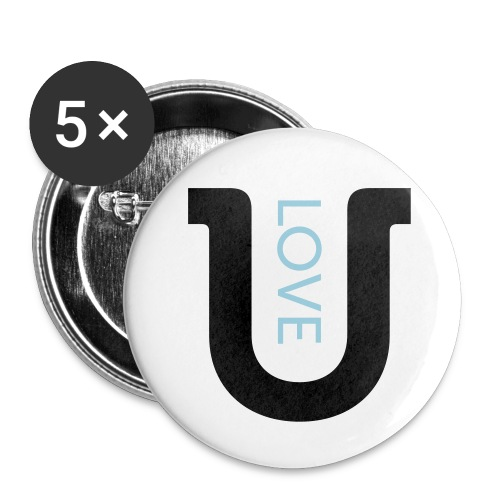 love 2c - Buttons small 1''/25 mm (5-pack)