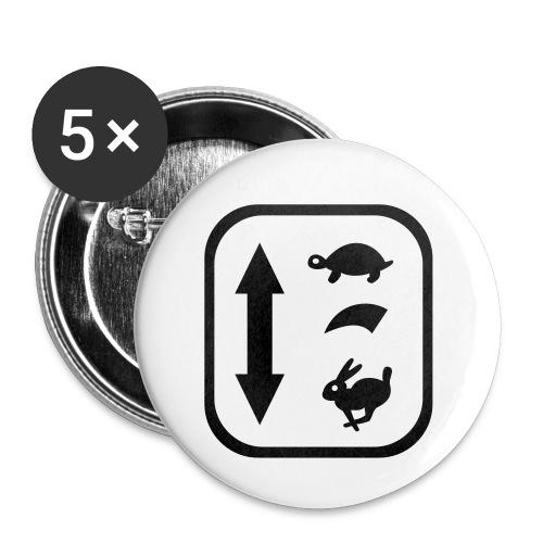 traktor schaltung - Buttons klein 25 mm (5er Pack)