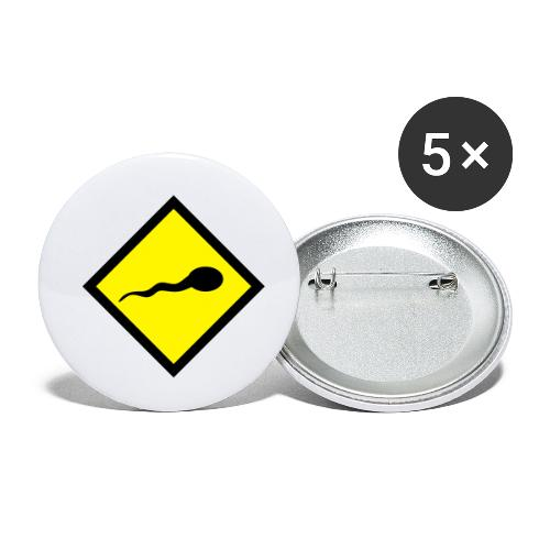 sperm warning - Buttons klein 25 mm (5-pack)
