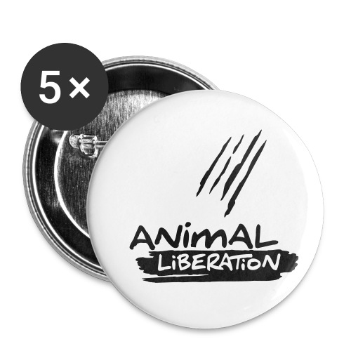 animalliberation01o_225x225 - Buttons klein 25 mm (5er Pack)