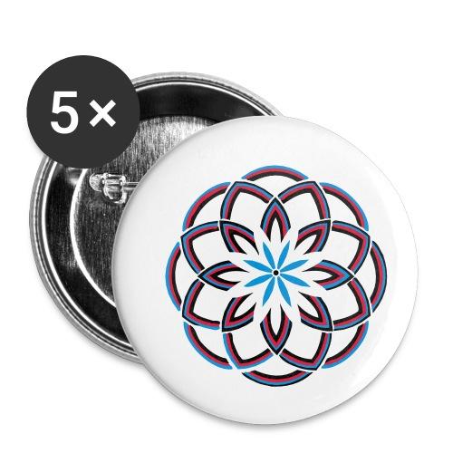 Spirograph 1 - Buttons klein 25 mm (5er Pack)