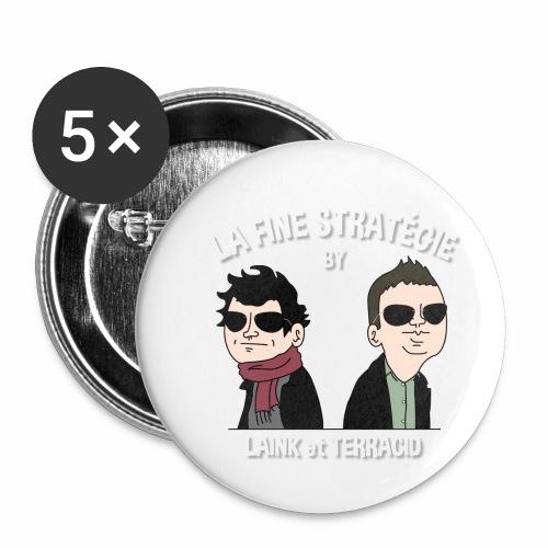 lafinestratégie - Lot de 5 petits badges (25 mm)