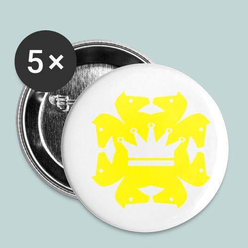 acht Springer - Buttons klein 25 mm (5er Pack)